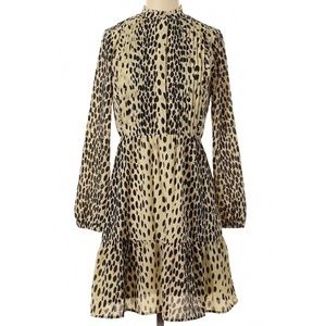 J.CREW Leopard Animal Printed Ruffle Pintuck Dress